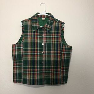 Christopher & Banks plaid vest size large